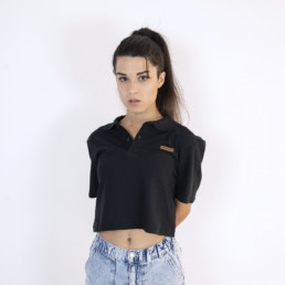 Polo Top Suelto Negro